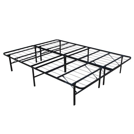 homegear platform metal bed frame mattress foundation queen