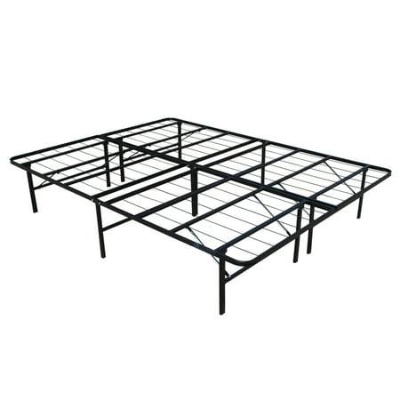 homegear platform metal bed frame mattress foundation queen - Platform Metal Bed Frame