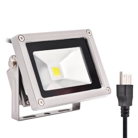Outdoor Led Flood Light 10w Daylight White 6500k Waterproof Security Lights With 3 G