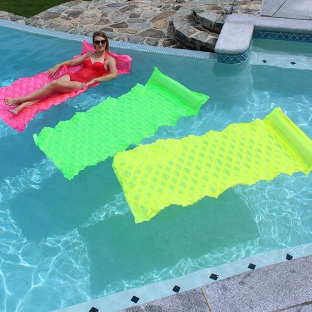 SunSplash Smart Float for Swimming Pools, Green, Yellow and Pink 3-Pack (Pink Pool Floats)