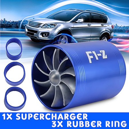 Car Turbine Head (Universal Car Double Turbine Turbo Air Intake Gas Fuel Saver Fan Supercharger)