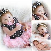 "Ktaxon 23"" Newborn Handmade Reborn Baby Doll Full Body Silicone Vinyl Girl"