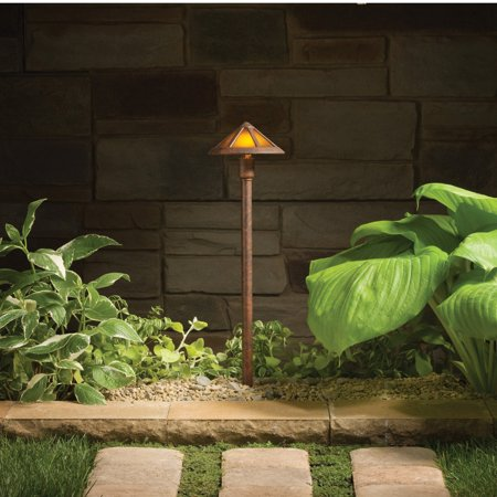 Kichler Woods 15450TZT Landscape 12V Path and Spread - 6 in. - Textured Tannery Bronze ()