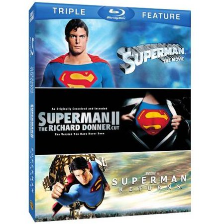 Image of Superman The Movie / Superman II: The Richard Donner Cut / Superman Returns (Blu-ray + Batman V Superman Movie Money)