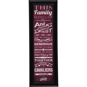 Cleveland Cavaliers Crackle Family Cheer Framed Art - No Size
