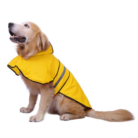 - HDE Dog Raincoat Hooded Slicker Poncho for Small to X-Large Dogs and Puppies (Yellow, Large)