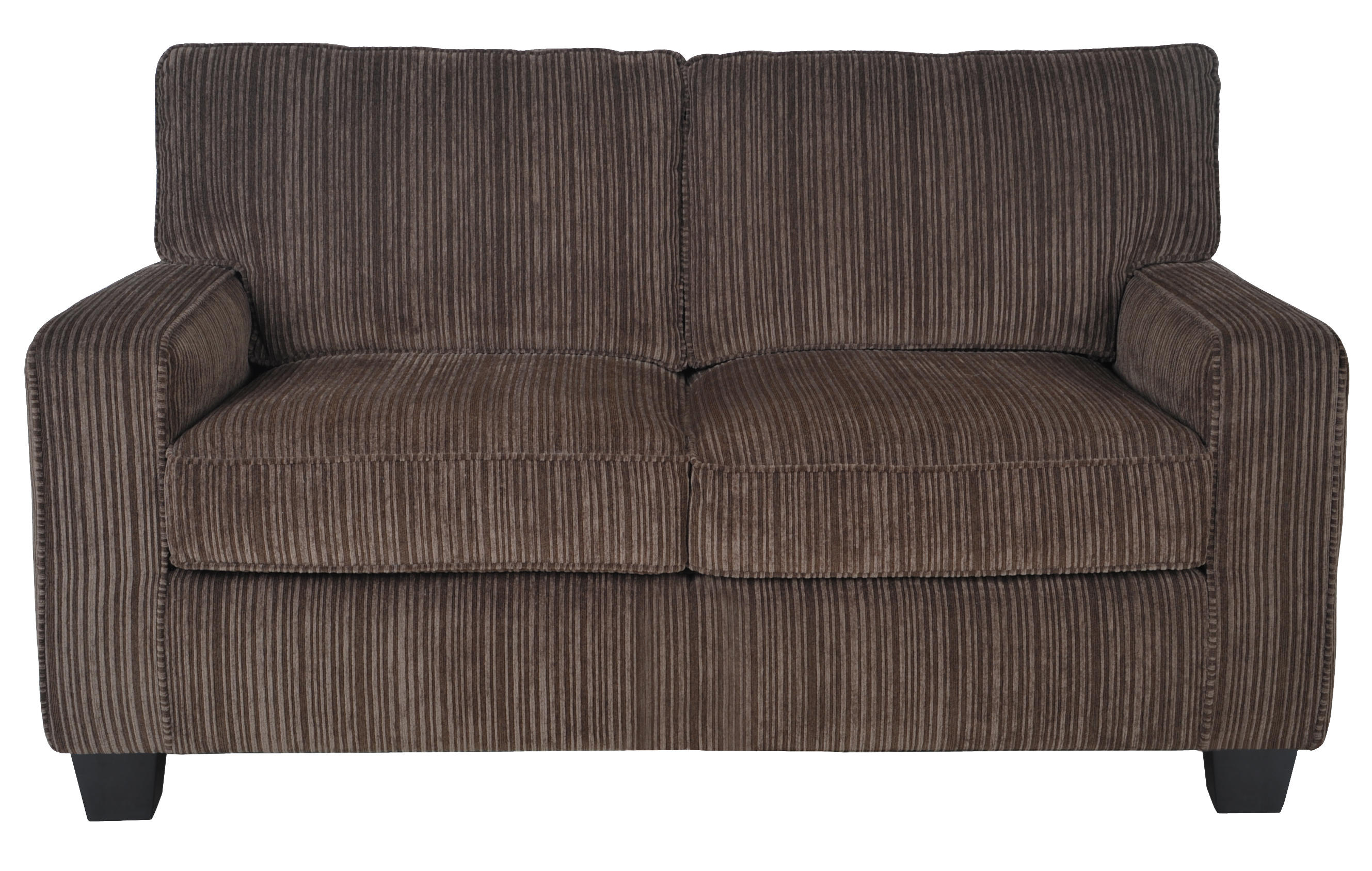 """Serta Palisades 61"""" Loveseat in Chestnut by Millwork Holdings Co., Inc."""