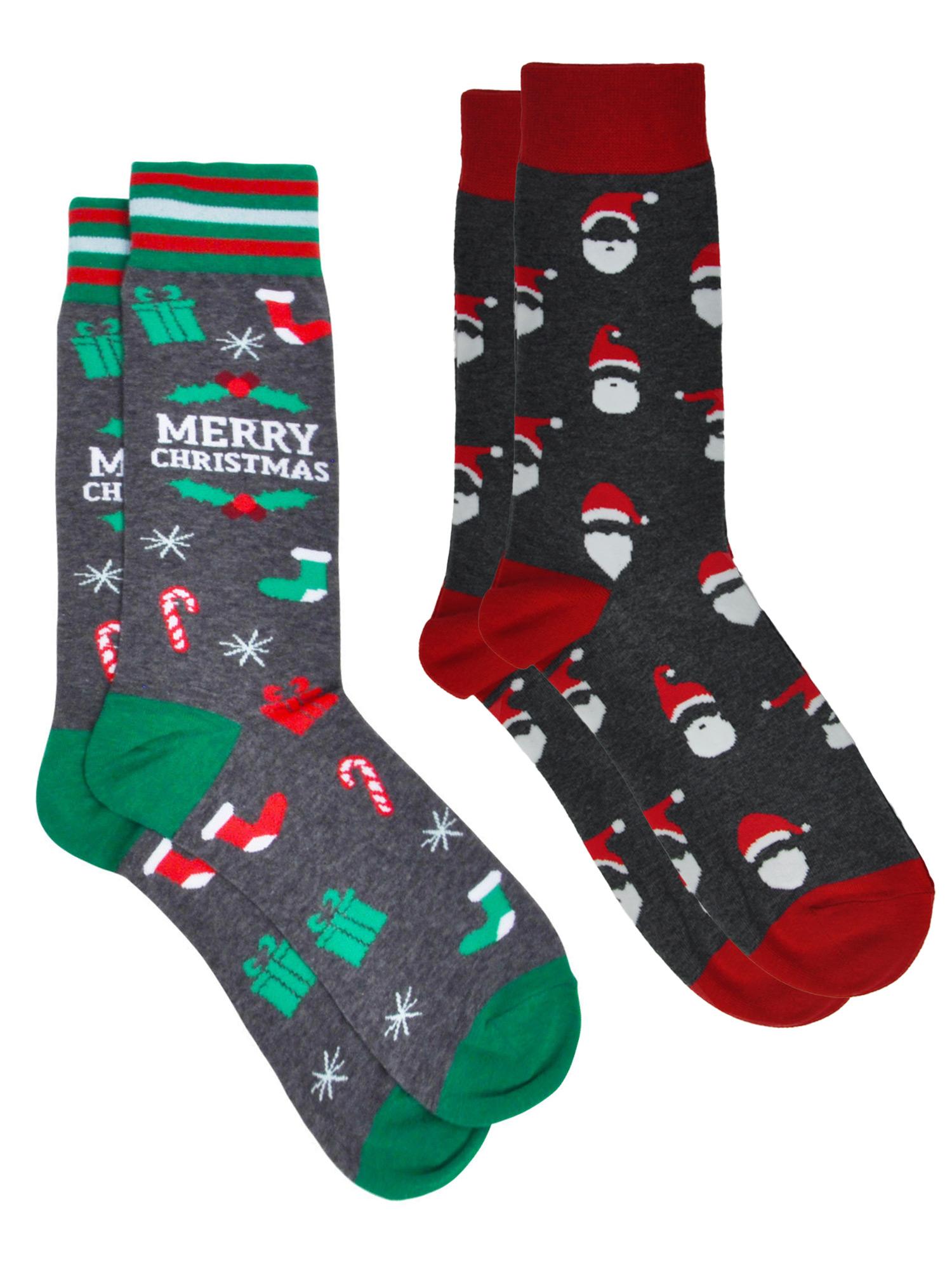 Christmas Tree Stocking Stuffer Gifts Santa Costume Santa Claus Flip Flops Sandals for Men Women