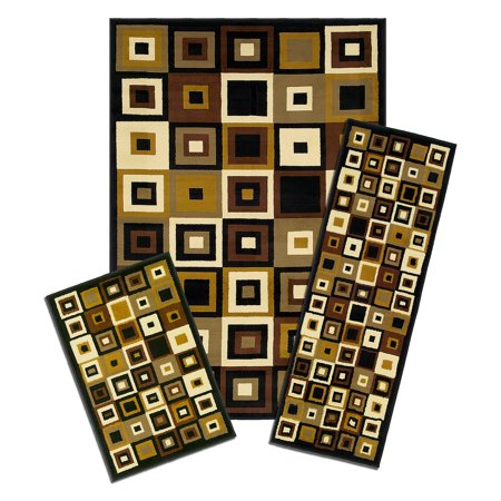 Southwest Inlay - Capri 3-Piece Rug Set, Southwest Tiles
