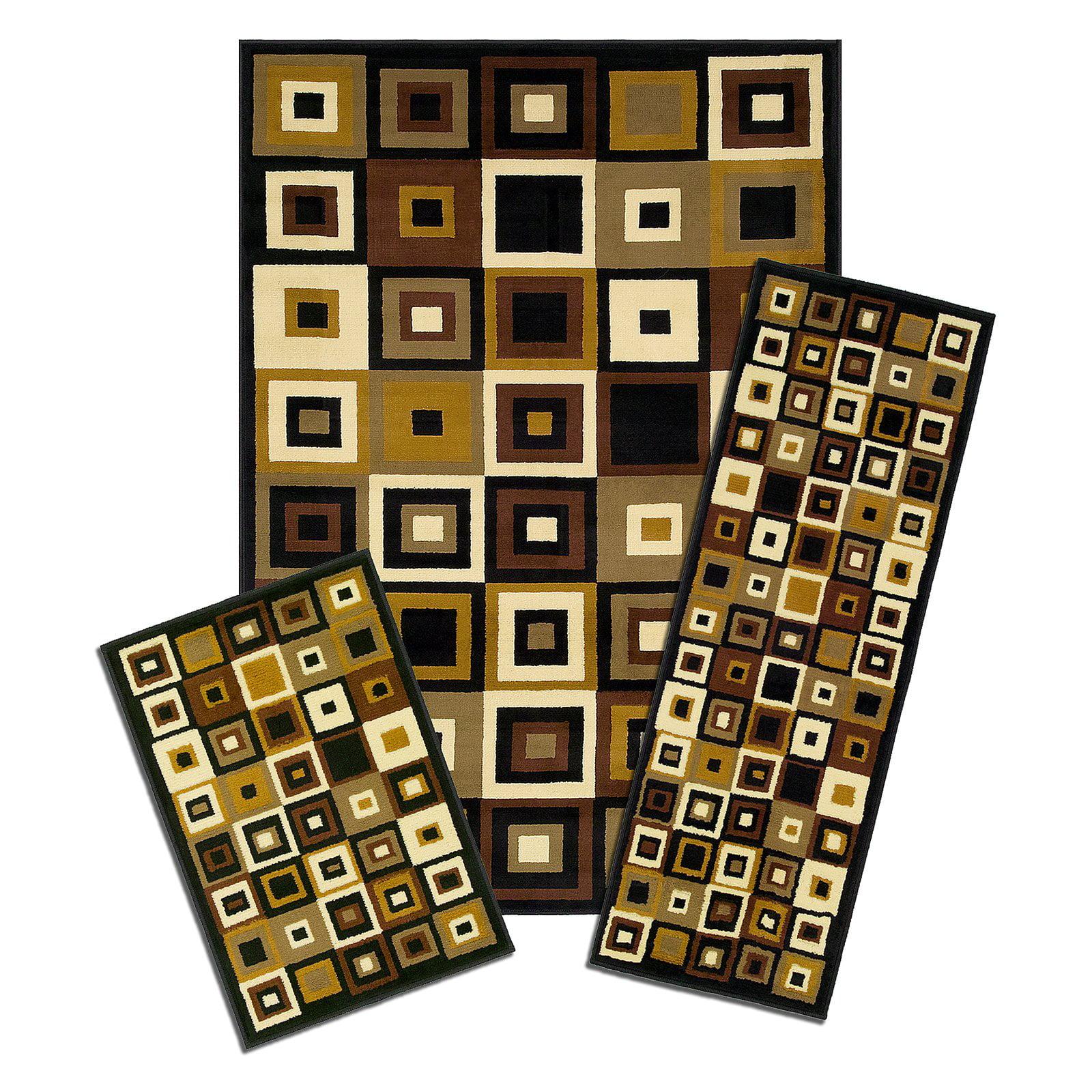 Capri 3-Piece Rug Set, Southwest Tiles