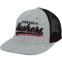 Nebraska Cornhuskers Top of the World Youth Cutter Adjustable Hat - Gray - OSFA