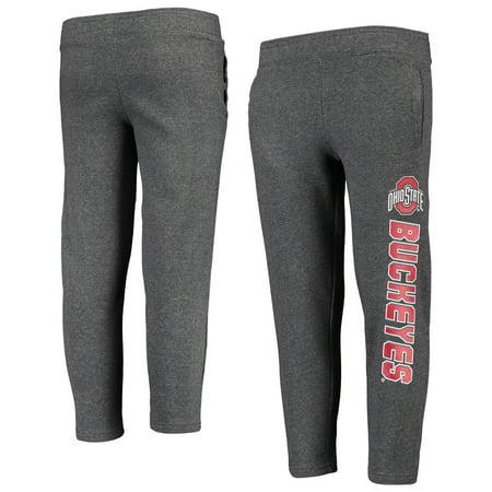 Youth Heathered Gray Ohio State Buckeyes Fleece Pants
