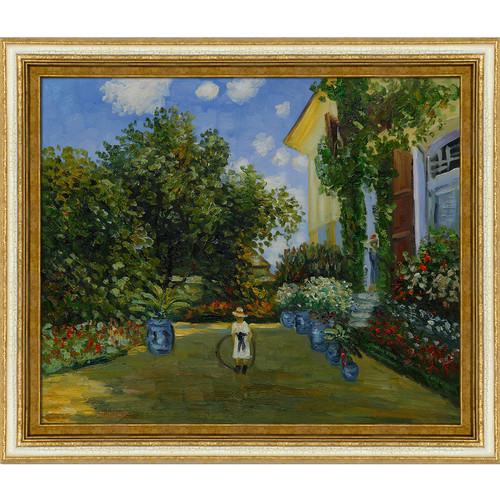 Wildon Home  La Casa Della Artista by Claude Monet Framed Original Painting