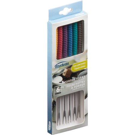 Trudeau Maison Fondue Forks Set Of 6-Assorted Colors