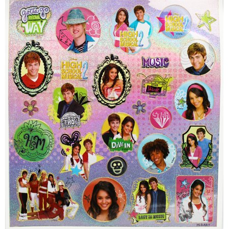 Disney's High School Musical 2 Gabriella and Troy Sticker Set (27 (High School Musical Decal Set)