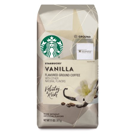 Starbucks Vanilla Flavored Ground Coffee, 11-Ounce Bag