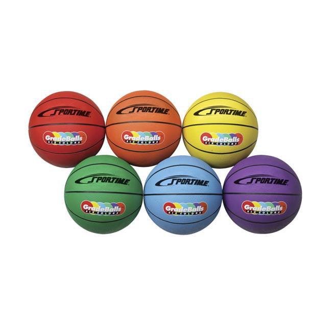 Sportime 1599269 Gradeball Rubber Mens Basketballs, 29.50 in. - Set of 6