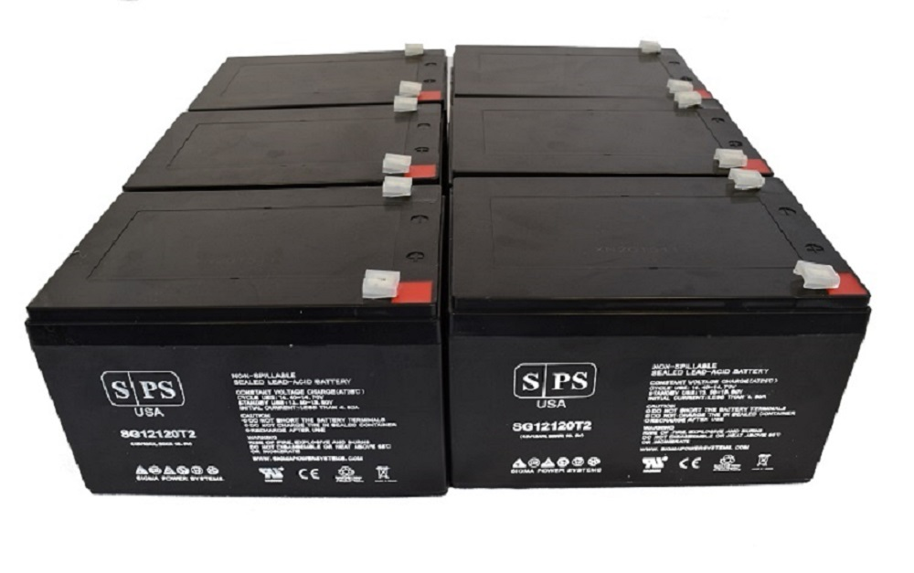 sps brand 12v 12ah replacement battery for apc sc620 6. Black Bedroom Furniture Sets. Home Design Ideas