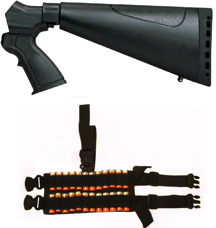 Ultimate Arms Gear Mossberg 500 535 590 835 20 Gauge Shotgun Sporter Sporting Tactical Black Stock Buttstock + 24 Shot... by