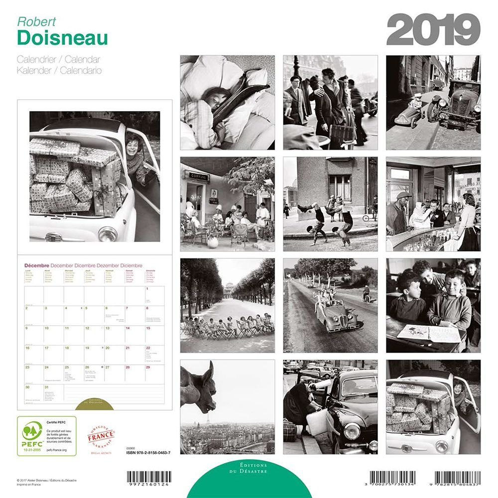 Calendario Ade.2019 Doisneau Wall Calendar By Editions Du Desastre