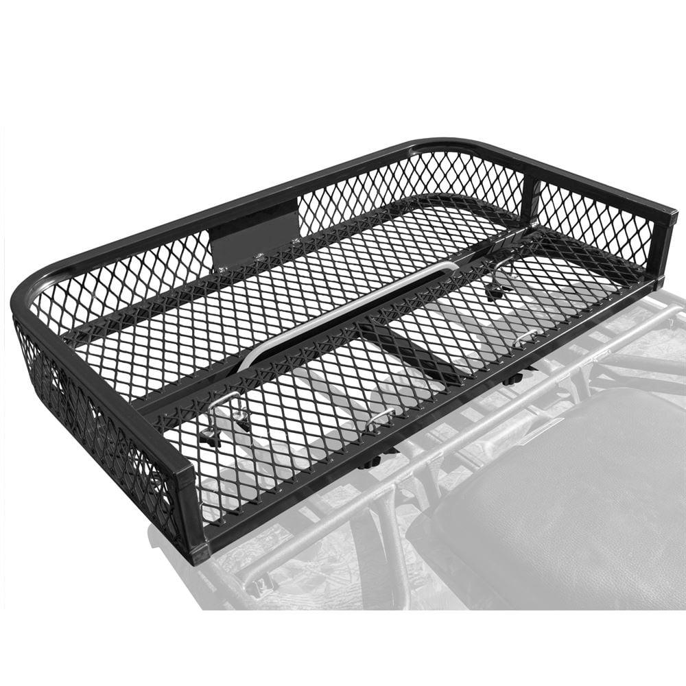 ATV Rear Rack-Mounted Steel Mesh Surface Cargo Storage Basket