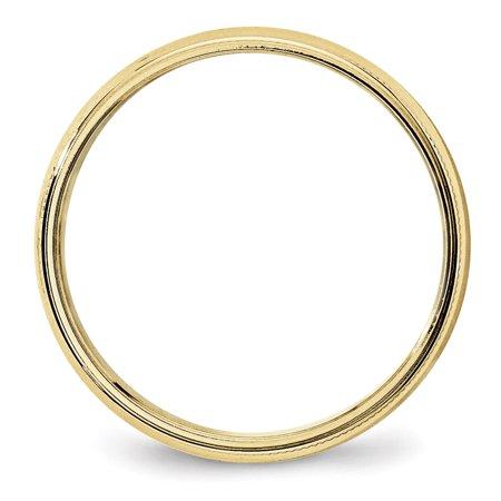 10K Yellow Gold 5mm Light Weight Milgrain Half Round Band Size 6 - image 2 of 4