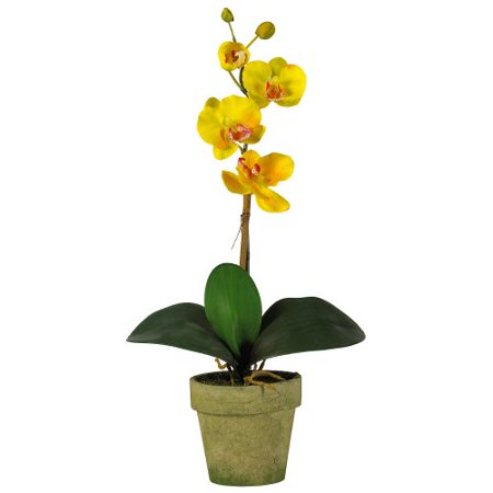 Nearly Natural 4065-AS-S3 Potted Phalaenopsis, Multicolored/White/Lavender/Yellow, Set of 3 - image 3 of 4