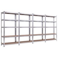 Costway 71'' Heavy Duty Storage Shelf Steel Metal Garage Rack 5 Level Adjustable Shelves