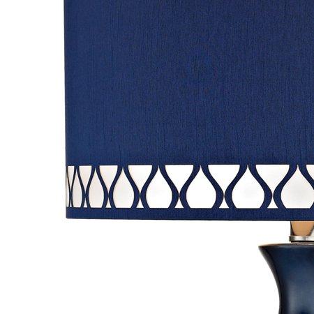 Heathfield Glass Table Lamp in Navy Blue - image 1 of 2