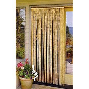 Free Shipping Master Garden Products Natural Beaded Bamboo Curtain 36 by 78-I..