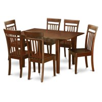 East West Furniture Picasso 7 Piece Sheraton Dining Table Set