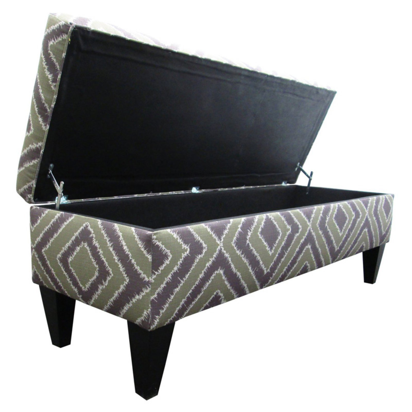 Sole Designs Nouvea Collection Upholstered Storage Bench with Built in Storage