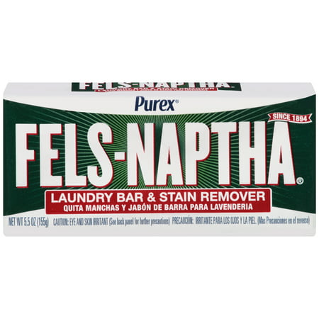 (3 pack) Purex Fels-Naptha Laundry Bar & Stain Remover & Pre-treater, 5.5 Ounce