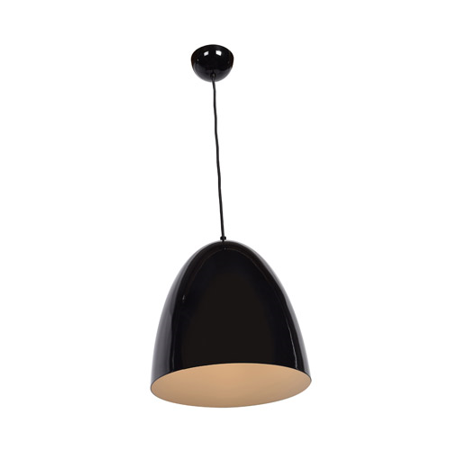 Pendants 1 Light With Shiny Black Tones Finish and Metal Material 12 inch 60 Watts - Glossy Black Metal Finish