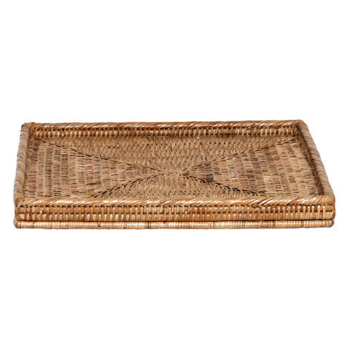 artifacts trading Rattan Square Tray Basket