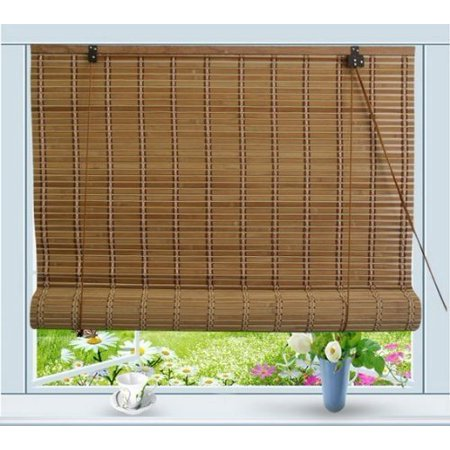 - Bamboo Roll Up Window Blind Sun Shade W24