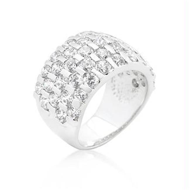 Channel Set Princess Cut Ring, <b>Size :</b> 08