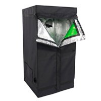 Zimtown 2x2x4ft/3'x3'x6'ft 600D Small Indoor Mylar Hydroponics Grow Tent for Indoor Plant Growing