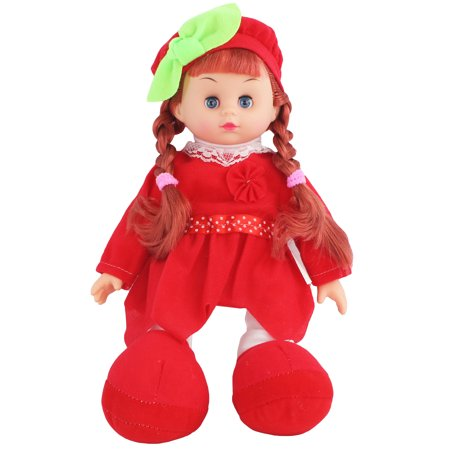 Battery Operated Pretend Play 13 Singing Girl Baby Doll Toy Soft