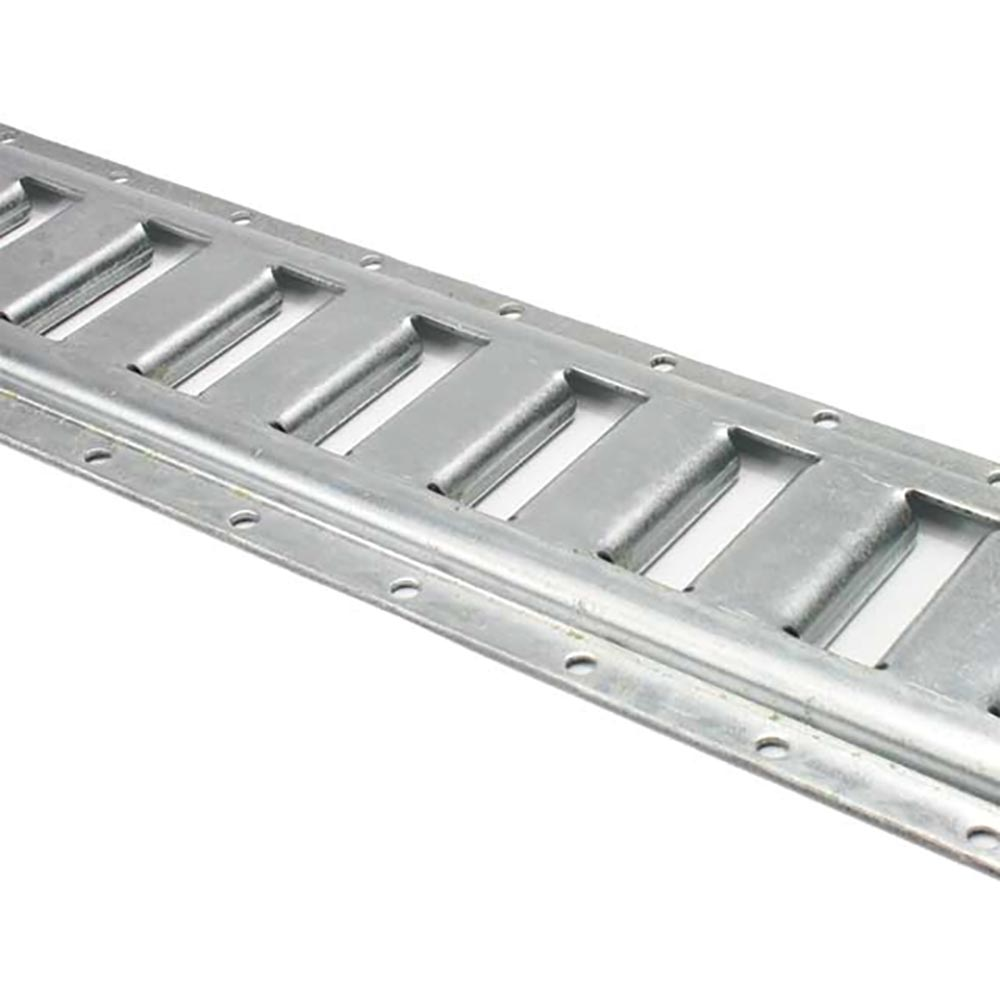 2 Pack - 5' Horizontal E Track - Galvanized - 12 Guage Steel