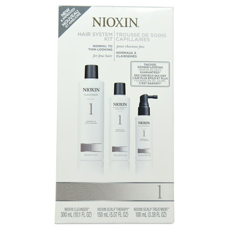 Hair Cleanser System (Nioxin Hair System Kit 1 Cleanser 10oz , Therapy 5oz and Treatment 3.3oz (Small) )