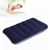 Inflatable Air Bed Travel Pillow Cushion For Camping Hiking Backpacking (Color: Navy blue) (47x30cm)