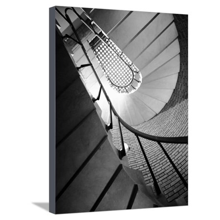 Flight of Stairs at the Marazzi Ceramics Factory Stretched Canvas Print Wall Art By A. Villani