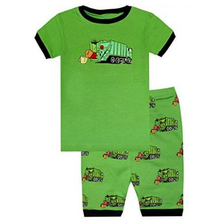 2e8fbc793 Elowel Pajamas - Elowel Boys Garbage Truck 2 Piece Pajama Set 100 ...