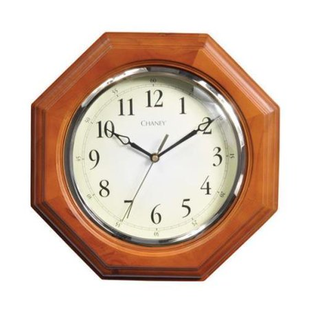 Chaney Octagon Wood Clock Brown/White ()