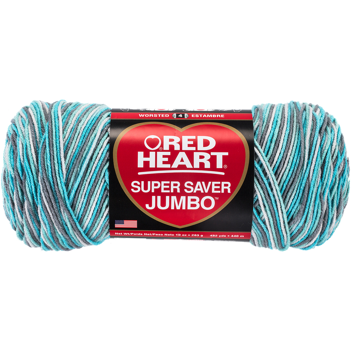Red Heart Super Saver Yarn Country Blue Acrylic 7 oz