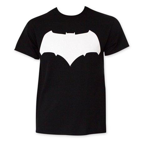 Batman v Superman Black And White Batman Logo Tee Shirt