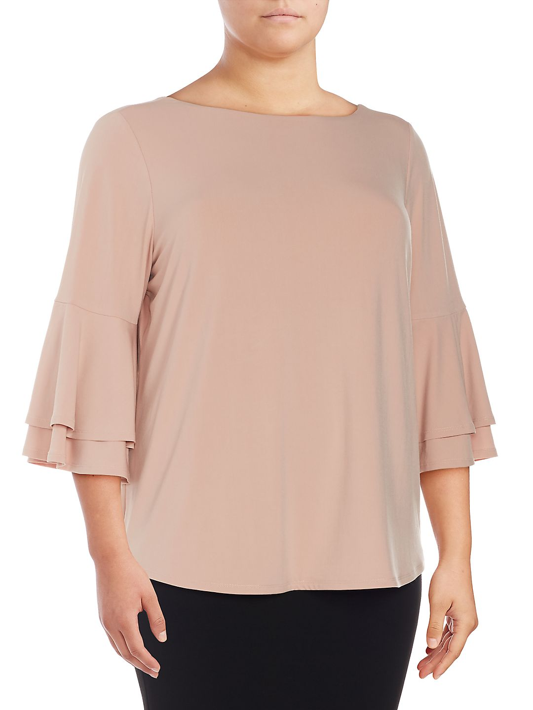 Plus Bell-Sleeve Blouse