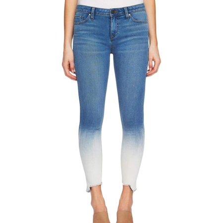 Dip Dyed Denim (Womens Dip-Dyed Step-Hem Stretch Jeans 26 )