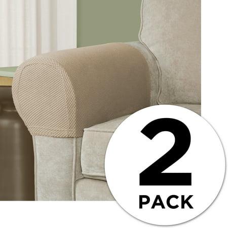 GetSet2Save Set of 2 Stretch Armrest Covers Tan